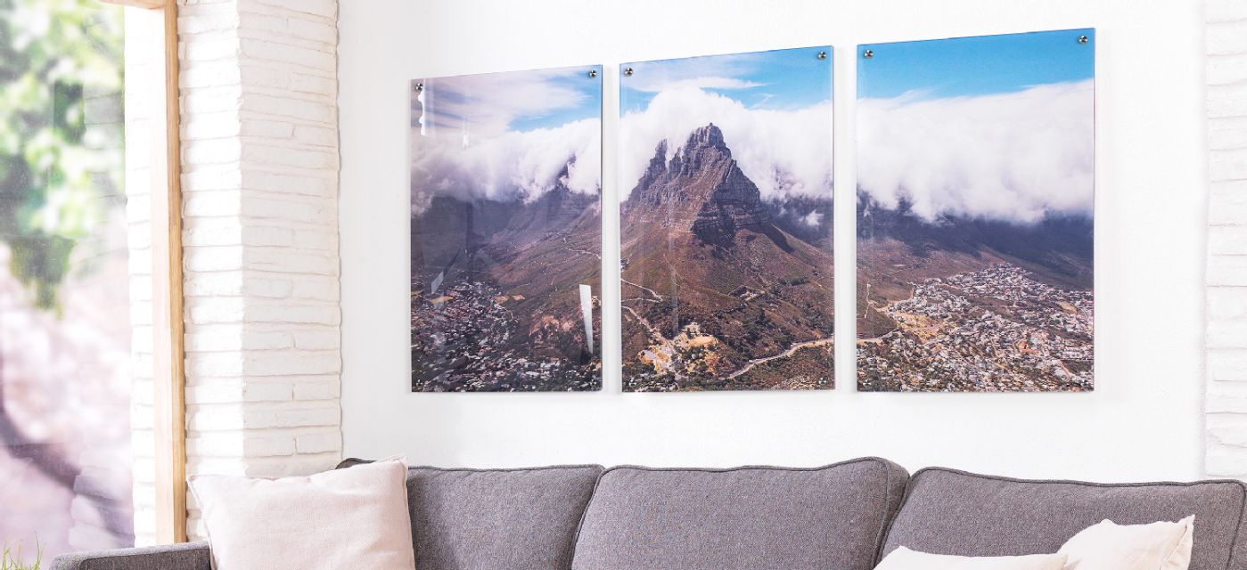 Acrylic glass direct print multi-panel image